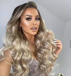 blonde wavy extensions